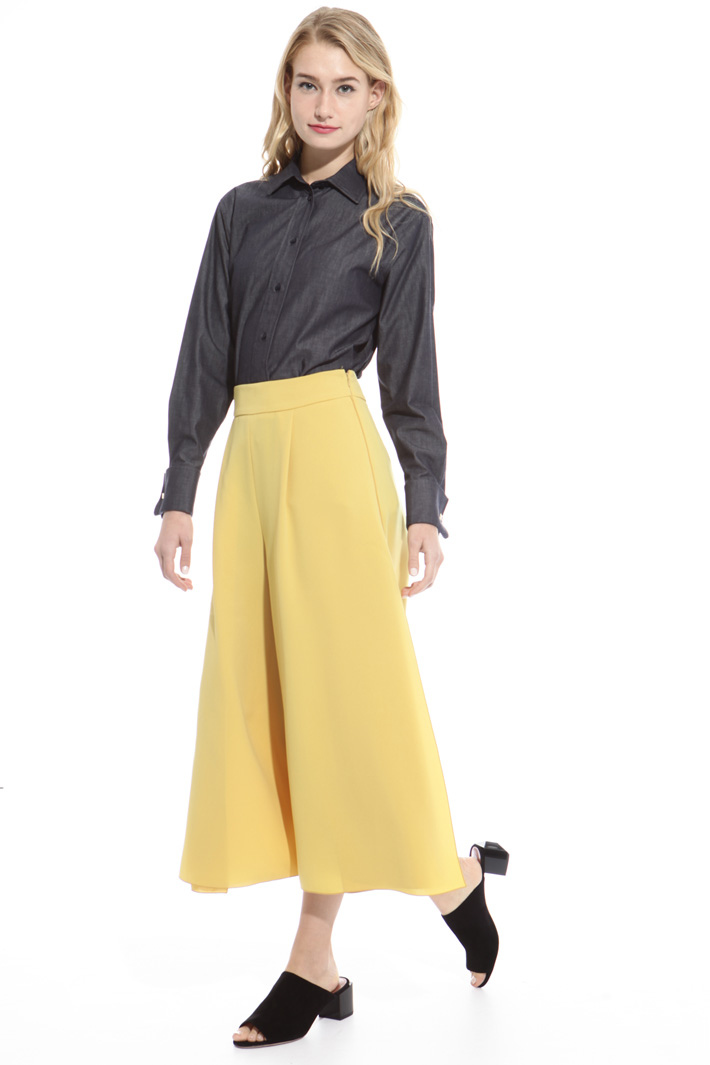 Divided skirt in triacetate Diffusione Tessile