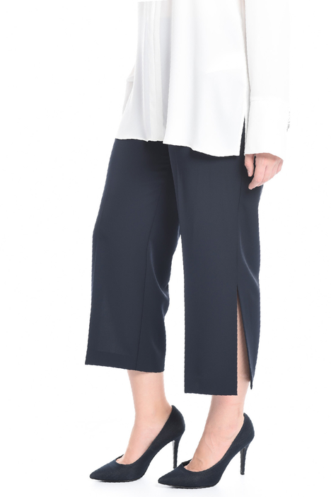 Cropped trousers with slits Diffusione Tessile