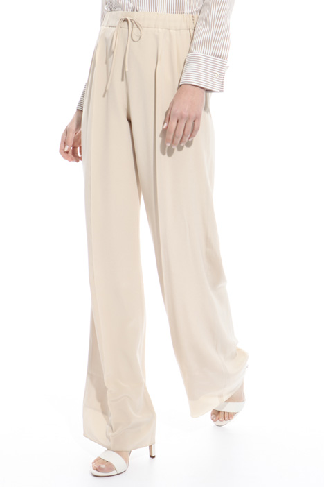 Fluid trousers in pure silk Diffusione Tessile