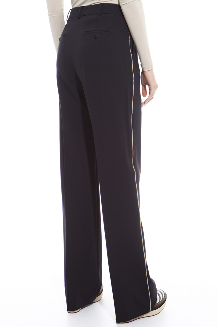Straight cut wool trousers Diffusione Tessile