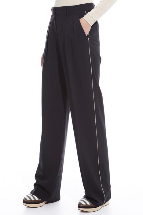 Pantalone dritto in lana Diffusione Tessile