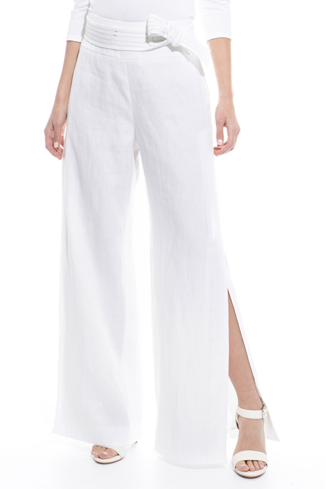 Wide trousers with slits Diffusione Tessile