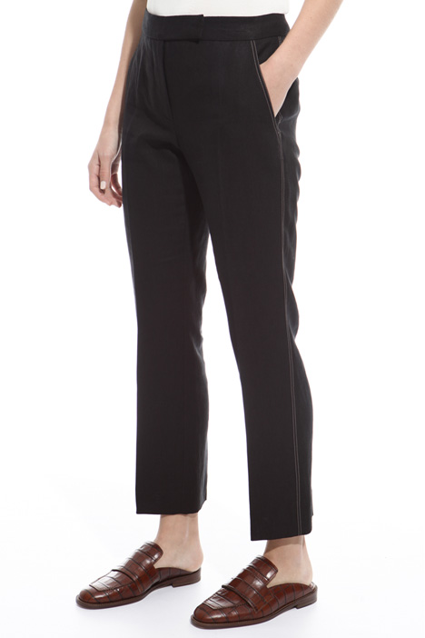 Contrasting stitch trousers Intrend