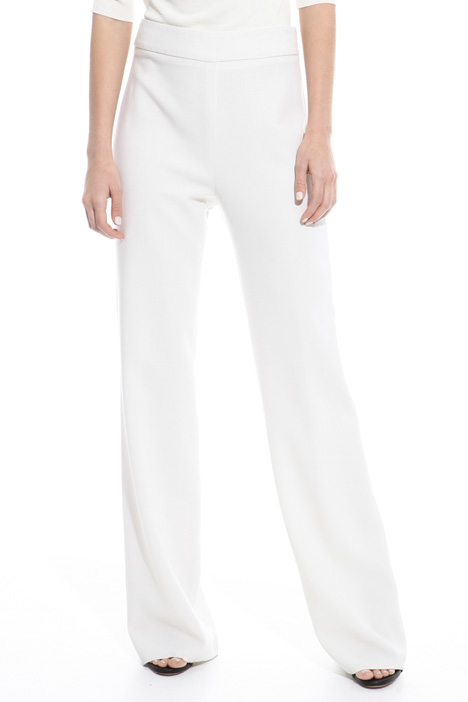 Straight leg wool trousers Diffusione Tessile