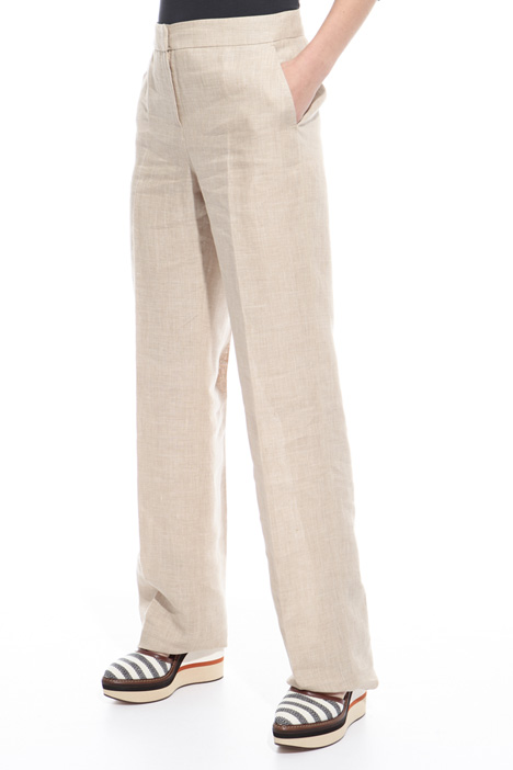 Linen canvas trousers Diffusione Tessile