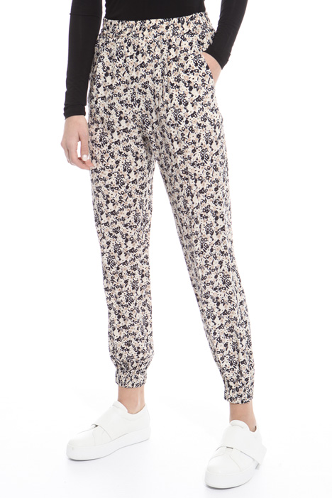 Crepe jogging-style trousers Intrend
