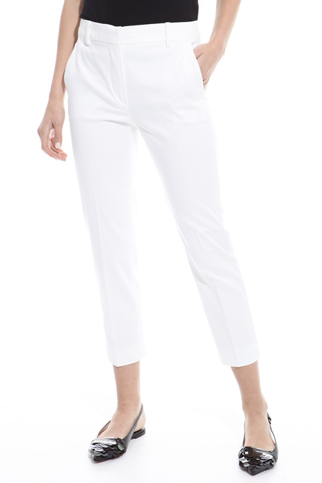 Fitted satin trousers Diffusione Tessile