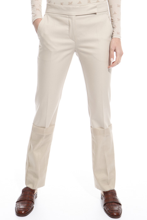 Long folded hem trousers Diffusione Tessile