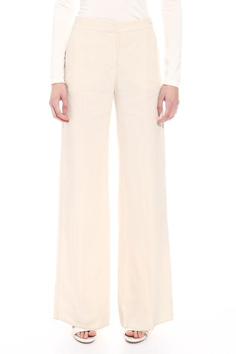 Pantalone palazzo in lino Diffusione Tessile