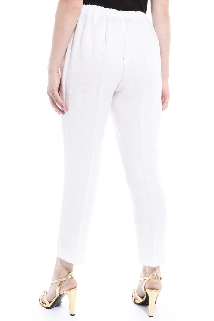 Pure linen trousers Diffusione Tessile