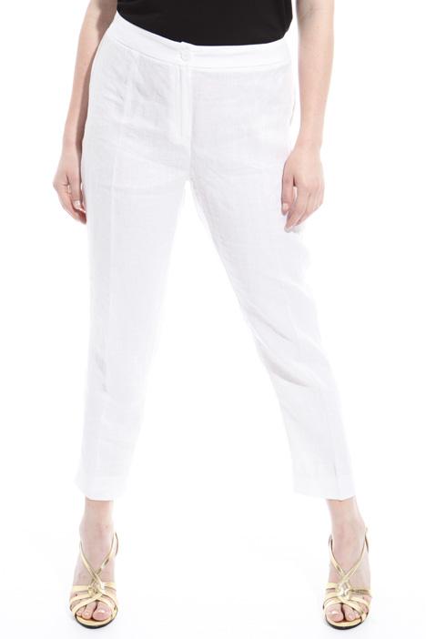 Pantaloni in puro lino Diffusione Tessile