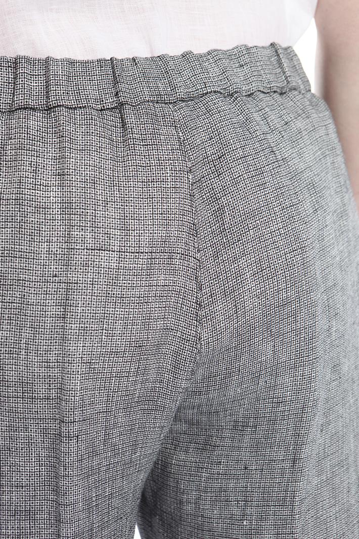 Pantaloni in lino tinto filo Intrend
