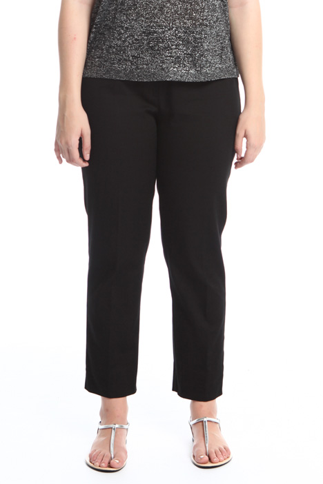 Trousers in cotton pique Intrend