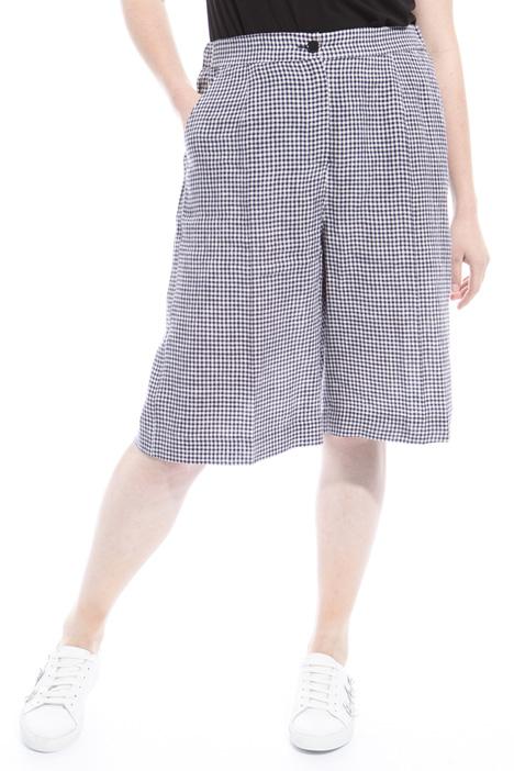 Pantaloni in lino tinto filo Diffusione Tessile
