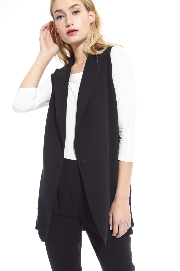 Gilet in cady di triacetato Intrend