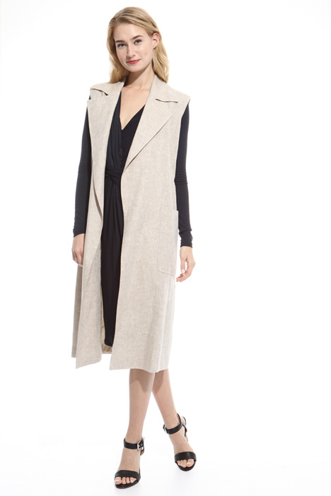 Gilet lungo in lino Intrend