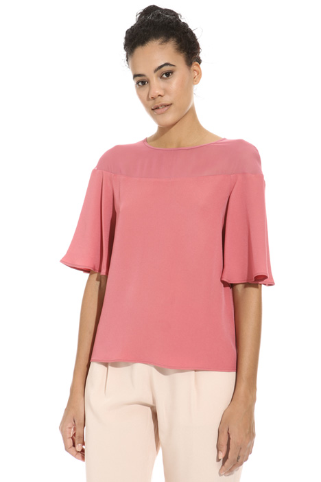 Top in enver satin Intrend