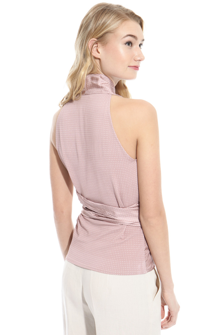 Twill wrap-up top Intrend