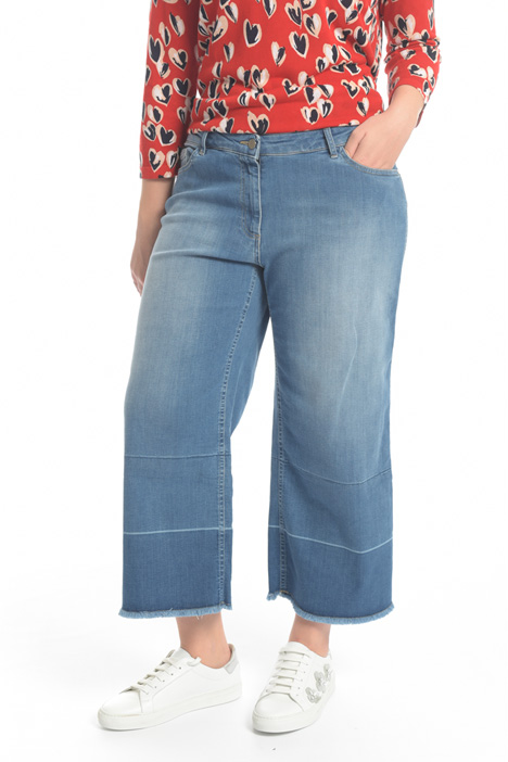 Jeans cropped in denim Diffusione Tessile
