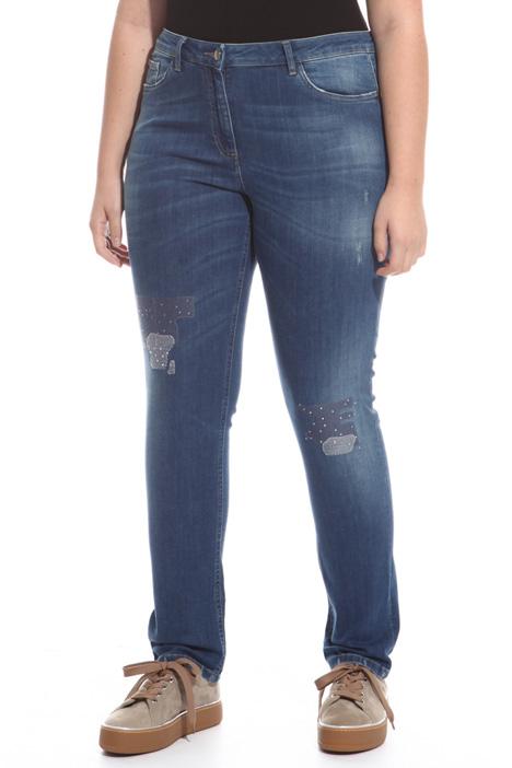 Jeans stretch con strass Diffusione Tessile