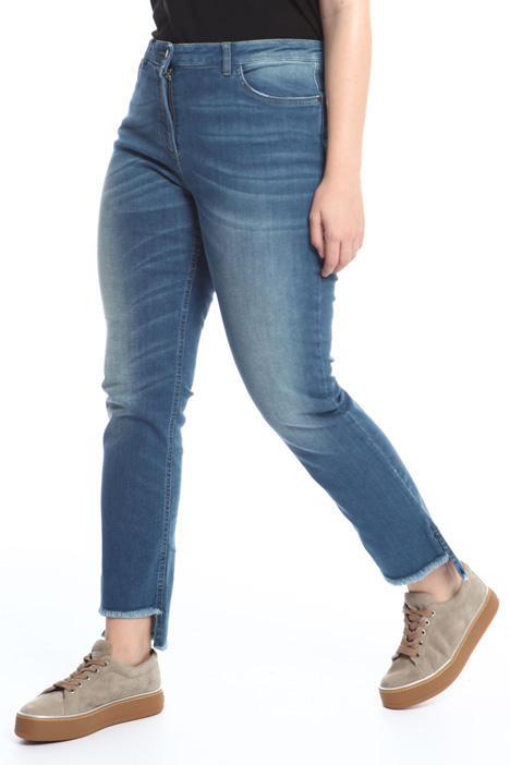 Asymmetric hem jeans Intrend