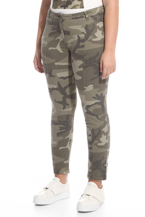 Pantaloni in gabardina stretch Diffusione Tessile
