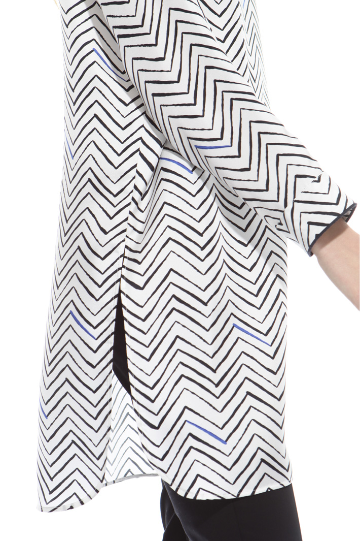 Oversized twill tunic Diffusione Tessile