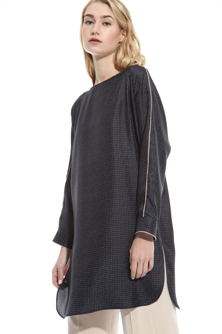 Oversized twill tunic Intrend