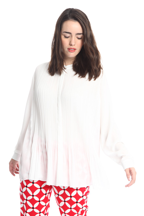 Pleated blouse in fluid fabric Intrend