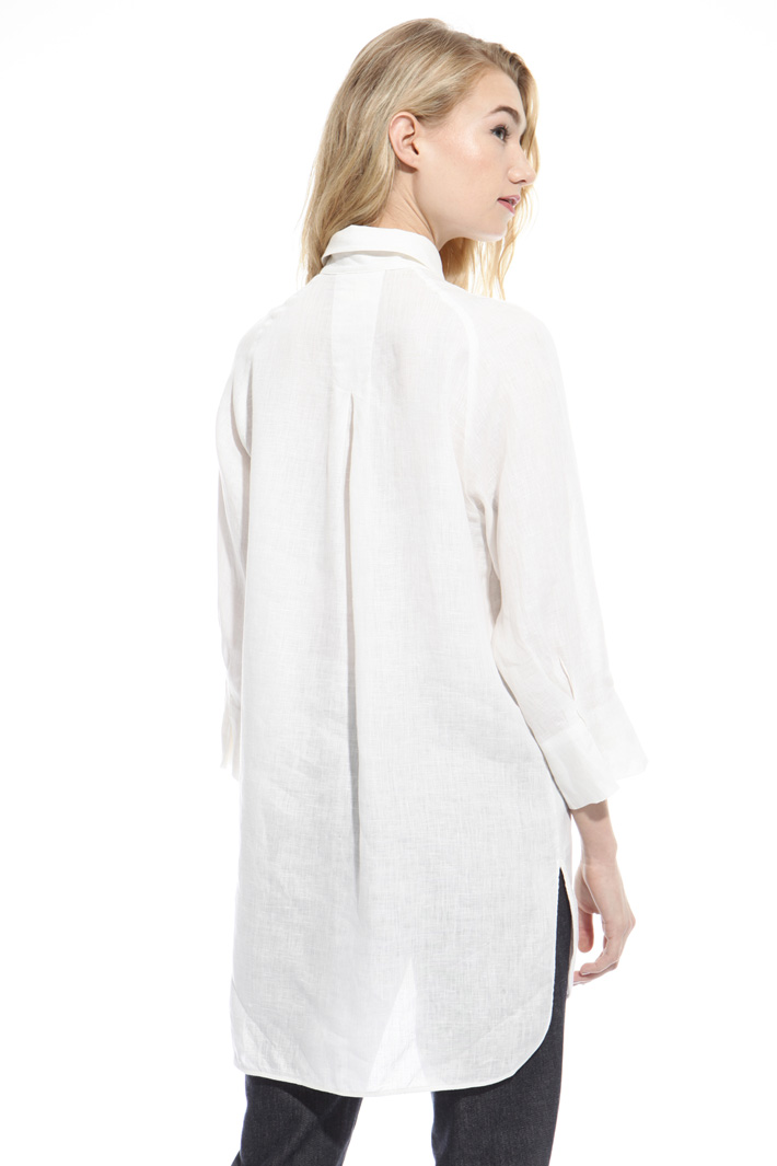 Oversized pure linen shirt Diffusione Tessile