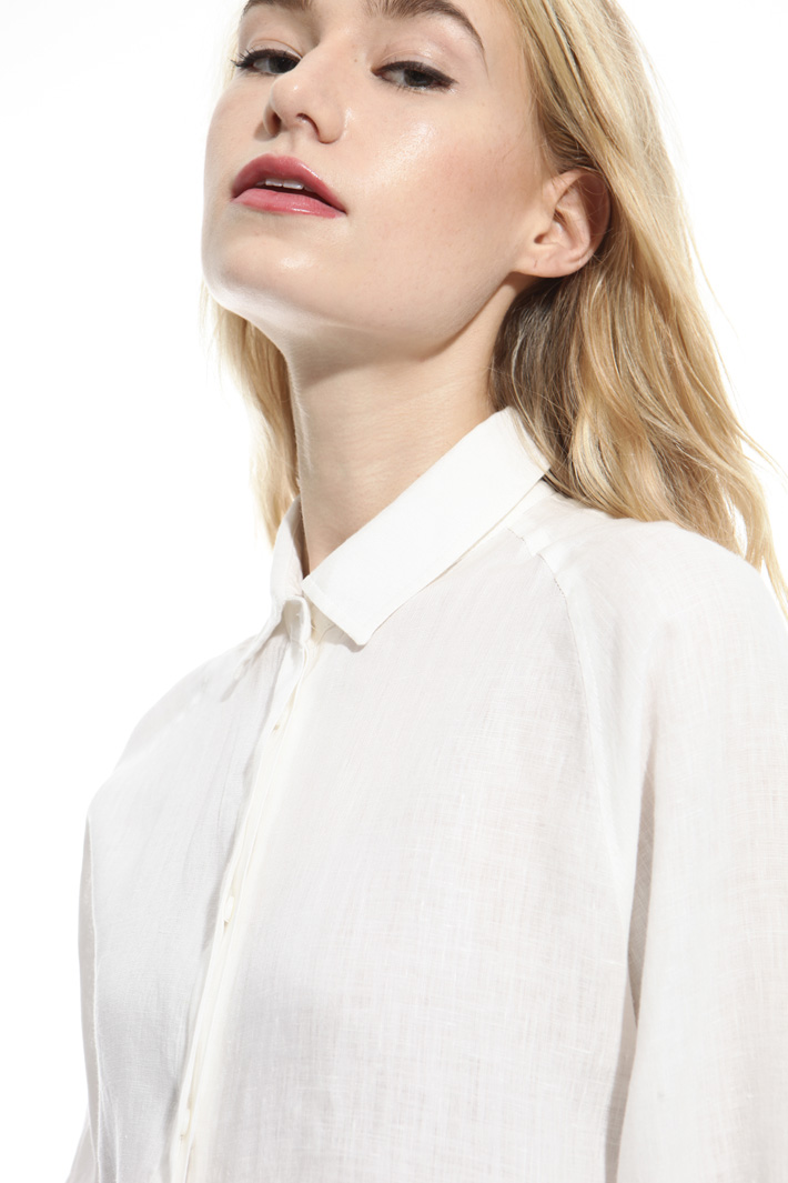 Oversized pure linen shirt Diffusione Tessile