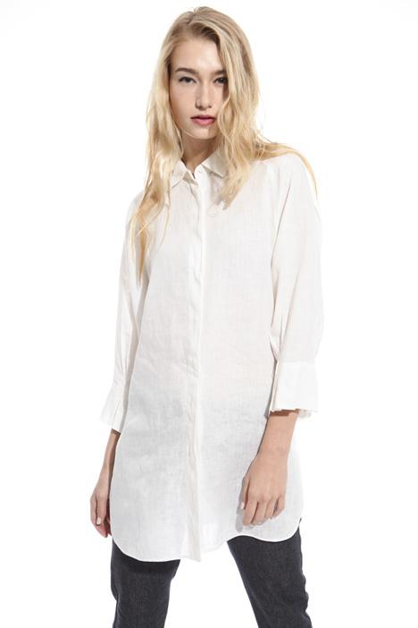 Camicia over in puro lino Diffusione Tessile