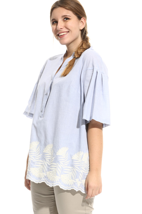 Embroidered cotton tunic Diffusione Tessile