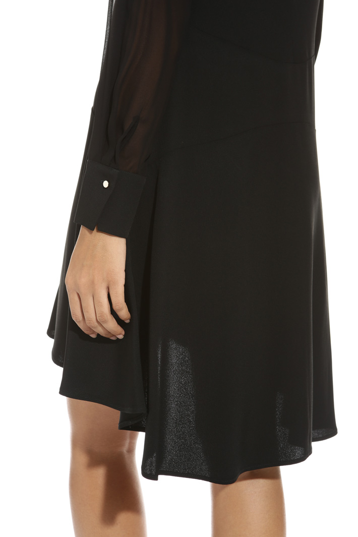 Asymmetrical hem dress Intrend