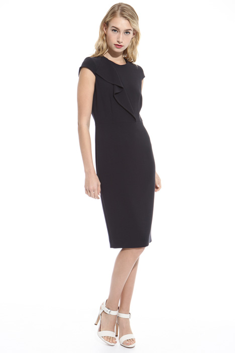 Fitted wool crepe dress Diffusione Tessile