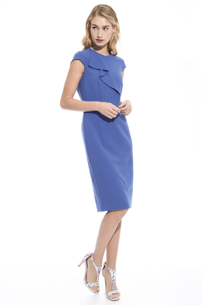 Fitted wool crepe dress Intrend