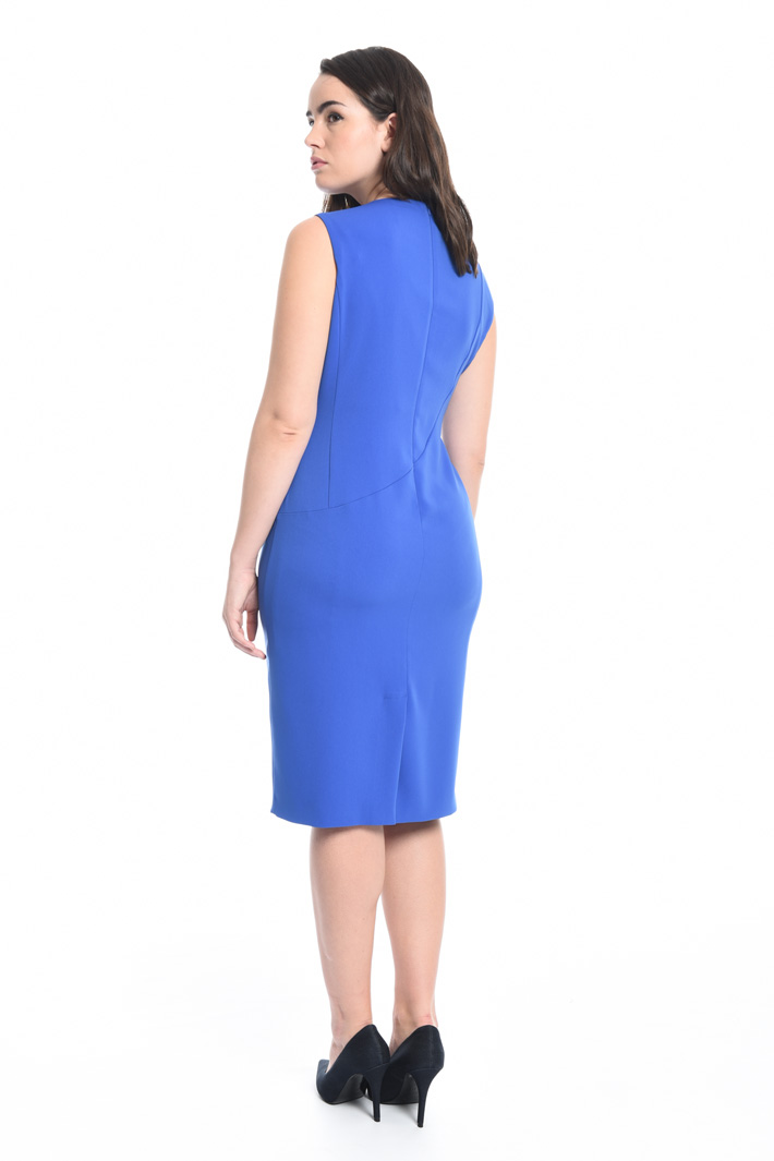 Fluid fabric sheath dress Diffusione Tessile