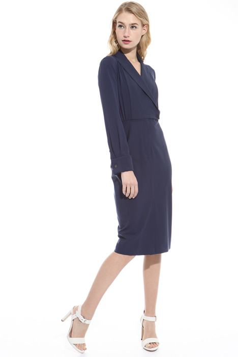 Wool canvas sheath dress Diffusione Tessile