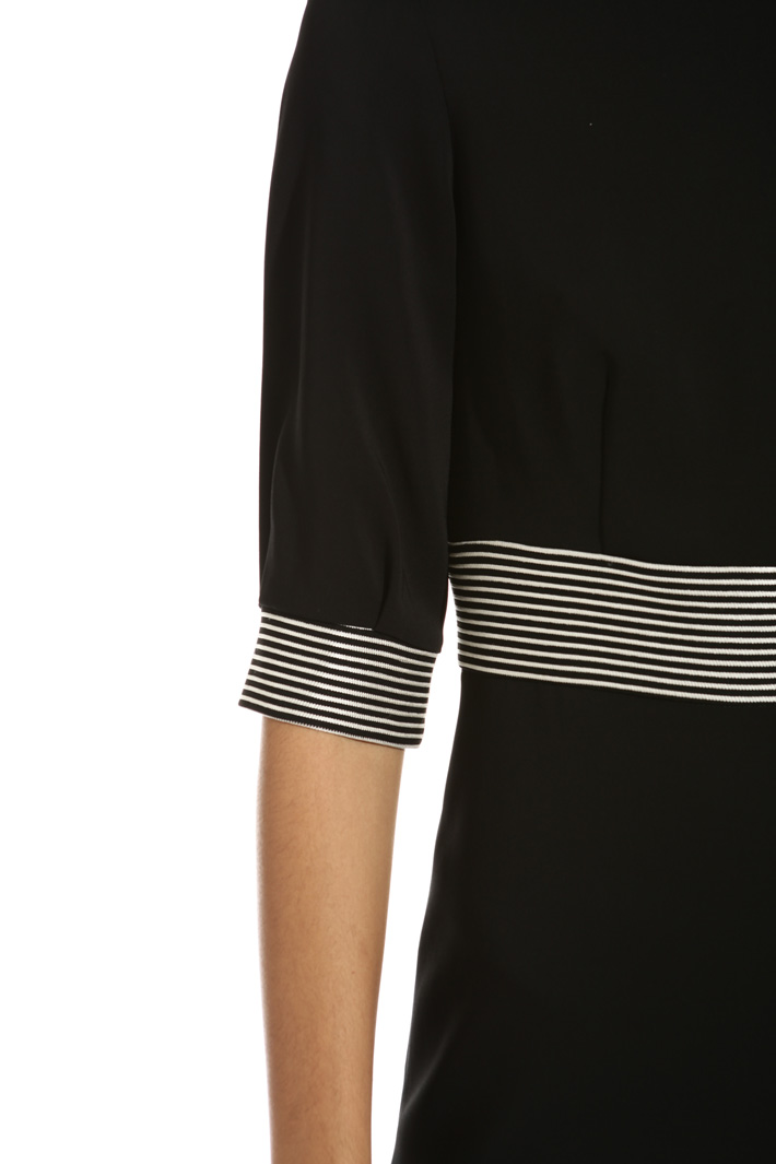 Striped detail dress Intrend