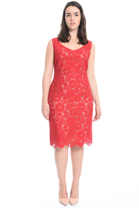Rebrodé lace sheath dress Diffusione Tessile