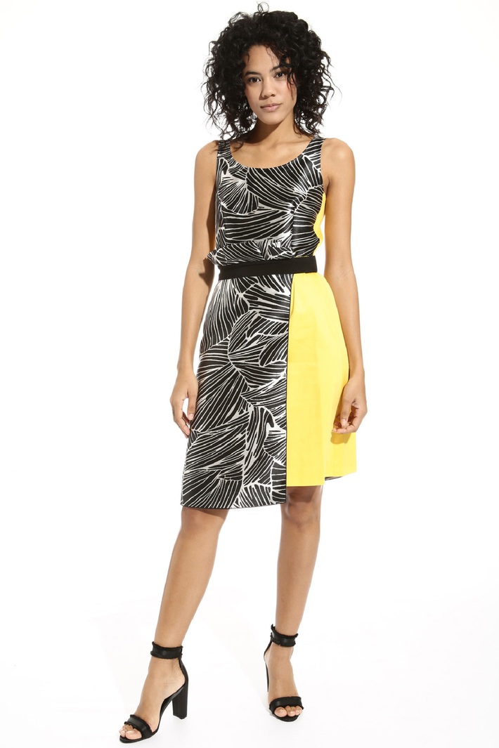 Dress with jacquard insert Intrend