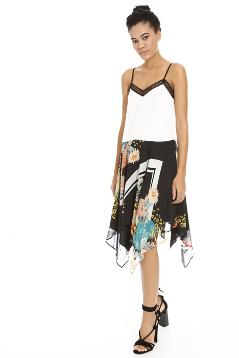 Printed asymmetric dress Intrend