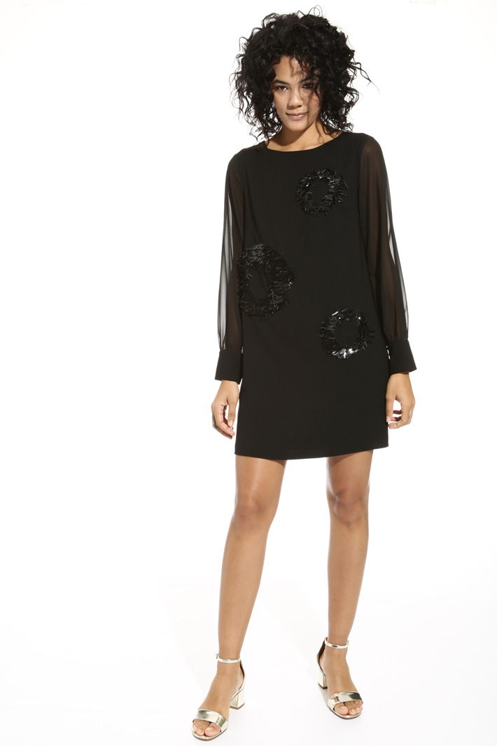 Dress with georgette sleeves Intrend