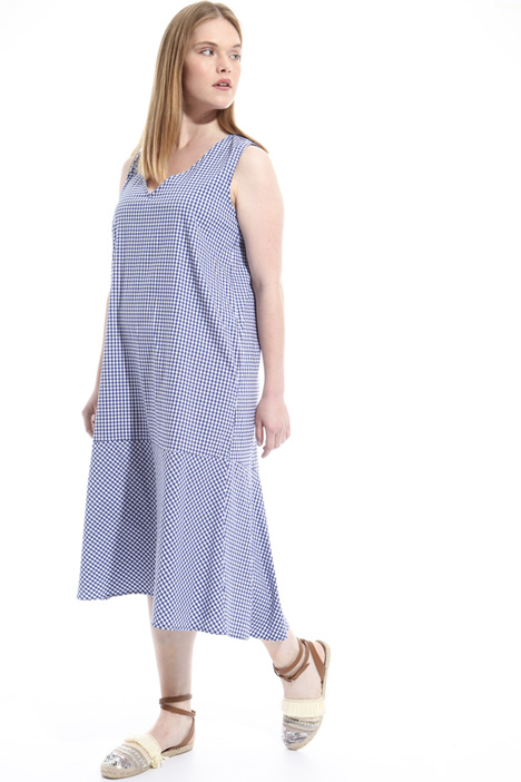 Long cotton blend dress Diffusione Tessile