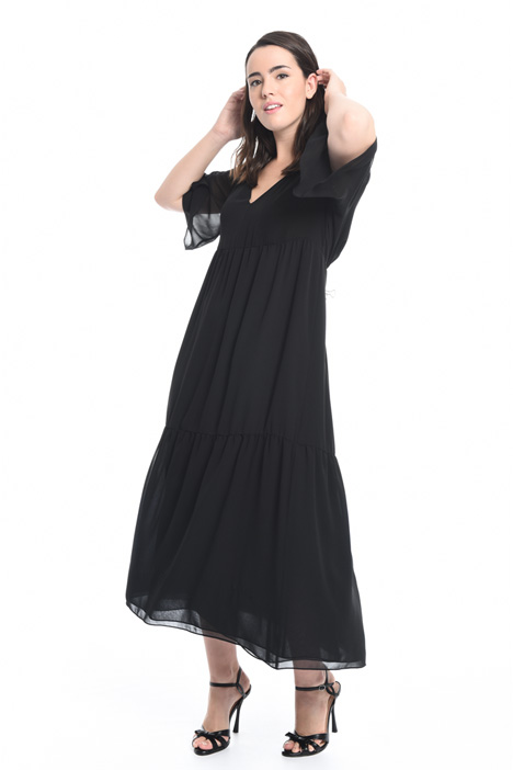 Flounced georgette dress Intrend