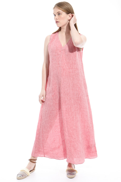 Slub linen dress Intrend