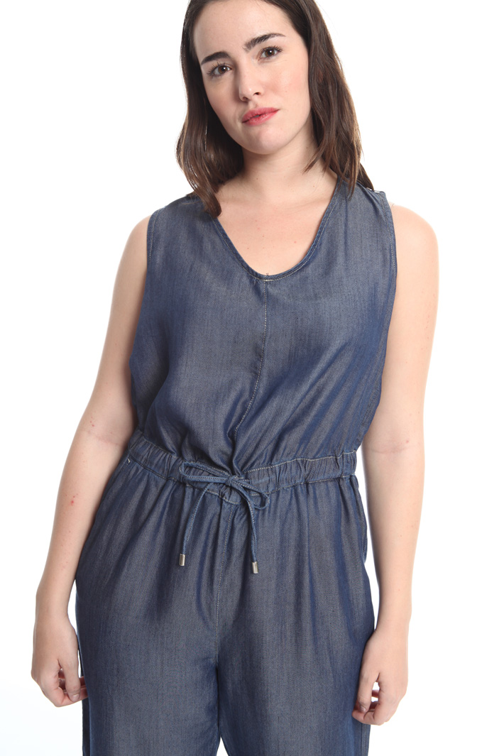 Denim-effect jumpsuit Diffusione Tessile