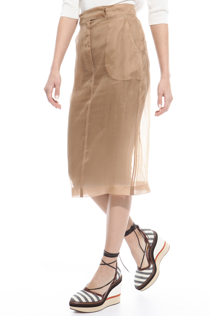 Pure silk organza skirt Intrend