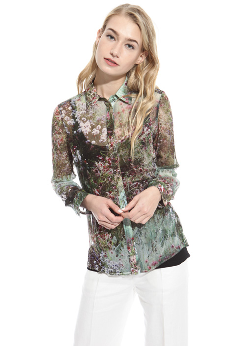 Camicia in georgette di seta Intrend