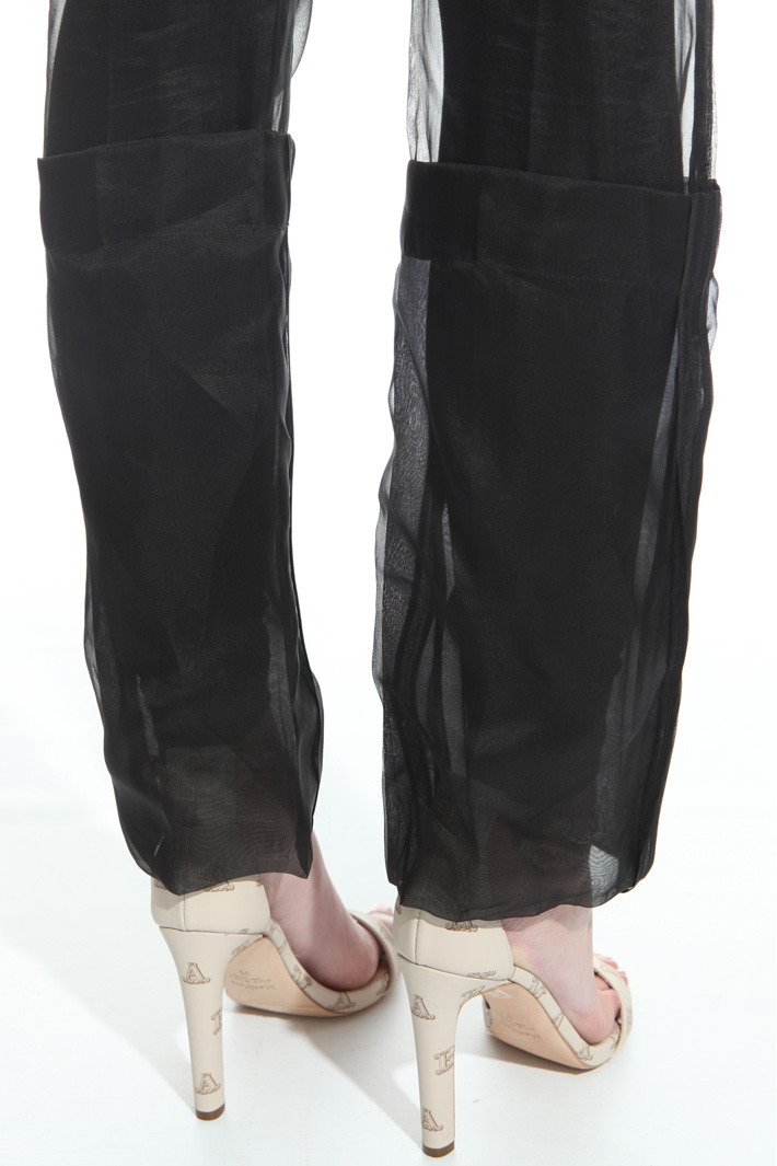 Silk organza trousers Intrend